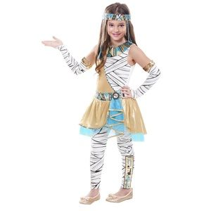 Funky Cleo Girls Halloween Costume Size M 8-10 New